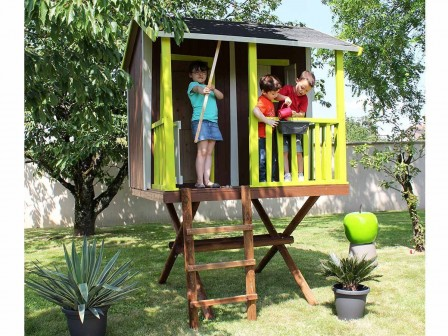 cabane en bois pour enfant cabane jardin enfant acheter un abri de jardin pour les enfants. Black Bedroom Furniture Sets. Home Design Ideas