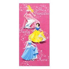 affiche de porte pour annoncer où se trouve la fête l'anniversaire princesse disney