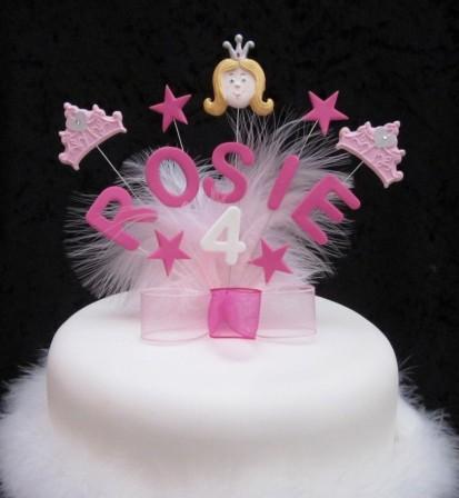 anniversaire thème princesse : moule à gâteau, décor en sucre