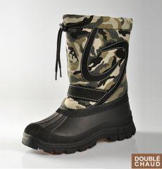 1dd12f3d0ce90 bottes de neige pour fille ou garçon pas cher style camouflage pas cher  confortable soldes petit