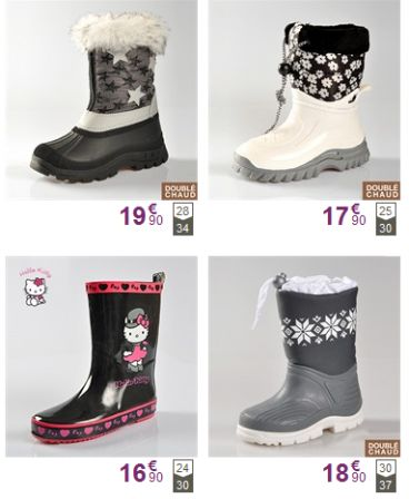 soldes bottes neige pour enfant bottes de pluie bottes. Black Bedroom Furniture Sets. Home Design Ideas