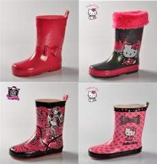 bottes de pluie fille enfant unie, hello kitty, monster high bottes pour la  pluie