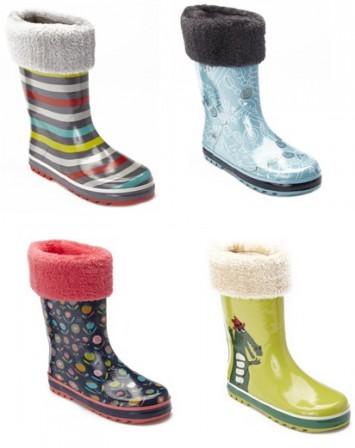 bottes en caoutchouc pour la pluie chaude pour fille ou garçon mode pas  cher.png