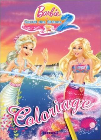 Barbie coloriage jeux et activit s avec barbie cahier - Jeux de princesse barbie sirene ...