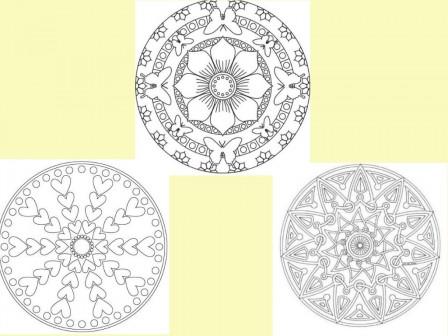 Coloriage Mandala Mandala à Dessiner Mandalas à Colorier