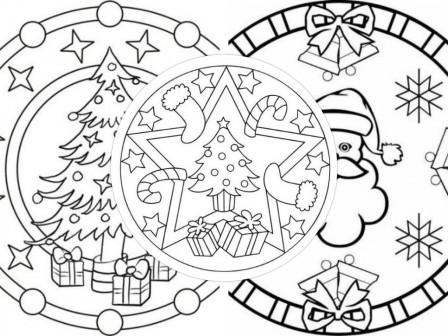Mandala De Noel A Imprimer Pour Colorier Dessins Et Mandalas