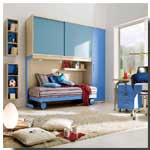 Chambre ado fille le mobilier lit armoire commode for Amenagement petite chambre fille