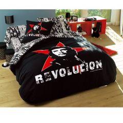 soldes linge de lit et housse de couette superbe housse de couette rouge et noir du che. Black Bedroom Furniture Sets. Home Design Ideas