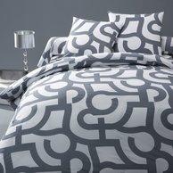 Cadeau de no l 2009 utile pour les ados linge de lit ensemble housse de couette pour ado - Housse de couette grise et blanc ...