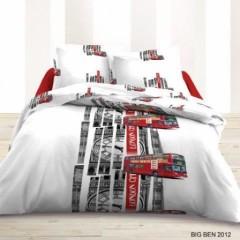 linge de lit rouge et gris Housse de couette londres, london   Linge de lit londres, parure  linge de lit rouge et gris