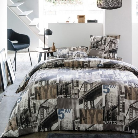 Housse de couette new york pas cher 28 images housse for Housse new york