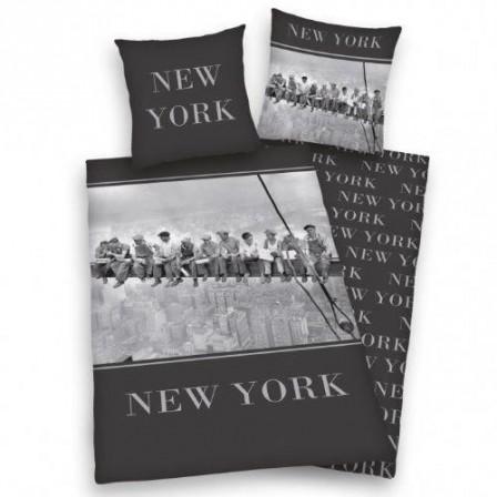 new york housse de couette parure de couette 220 x 240 pas cher parure de c. Black Bedroom Furniture Sets. Home Design Ideas