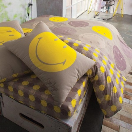 D coration chambre smiley for Housse de couette attrape reve