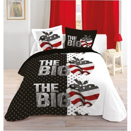 parure de lit rouge et noir finest parure lit noir linge. Black Bedroom Furniture Sets. Home Design Ideas