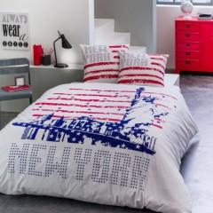 Housse de couette new york usa us drapeau americain for Decoration chambre ado style americain