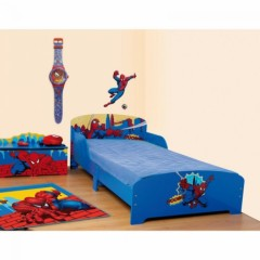lit enfant spiderman pas cher enfant 18 mois 2 ans 3 ans 4 ans 5 ans lit bleu spiderman. Black Bedroom Furniture Sets. Home Design Ideas
