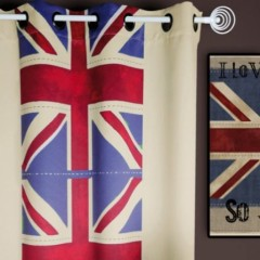 london deco british rideaux oeillets pret poser decoration drapeau union jack decoration anglaise ado adultes - Rideau Pour Ado