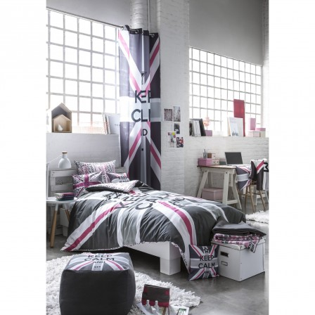 d coration chambre london rose. Black Bedroom Furniture Sets. Home Design Ideas