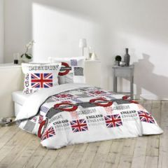 Housse de couette londres london linge de lit londres for Housse de couette london 1 personne