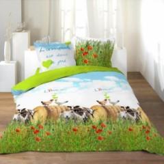 l 39 amour est dans le pr housse de couette 140 x 200 220 x 240 linge de lit parure de. Black Bedroom Furniture Sets. Home Design Ideas