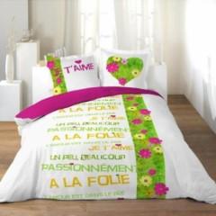 L 39 amour est dans le pr housse de couette 140 x 200 220 x 240 linge de lit parure de - Photo de l amour dans le lit ...