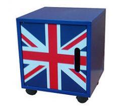 cube de rangement 1 porte roulettes table de nuit. Black Bedroom Furniture Sets. Home Design Ideas