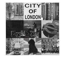 tableau londres monuments en noir et blanc tableau 60 x 60 decoration anglaise angleterre british photo london cadeau