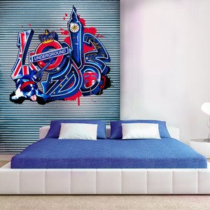 decoration murale londres. Black Bedroom Furniture Sets. Home Design Ideas