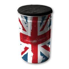 coffre pouf cylindrique en acier pour rangement et assise pouf union jack pas cher pour decoration british anglais drapeau londres.jpg