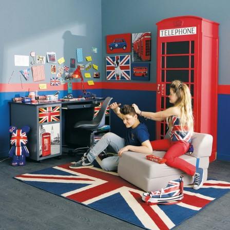 Idées déco British pour chambre d\'ado - Décorer une chambre d\'ado ...