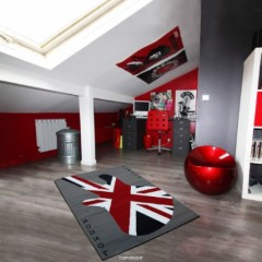tapis deco anglaise drapeau union jack pour prot ger le. Black Bedroom Furniture Sets. Home Design Ideas
