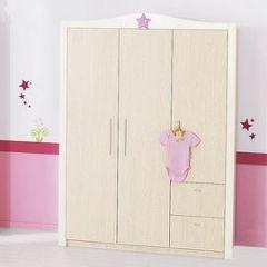 petite armoire chambre armoire de chambre enfant 2 portes en bois l106cm h185cm teddy armoire. Black Bedroom Furniture Sets. Home Design Ideas