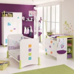 Chambre de b b compl te lit b b armoire b b armoire for Preparer la chambre de bebe
