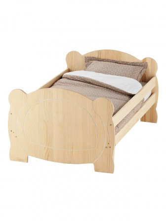 lit en brut brut peindre pour chambre d 39 enfant ou de junior meuble en bois personnaliser. Black Bedroom Furniture Sets. Home Design Ideas