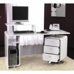 Bureau pour ado poste informatique et espace de travail for Meuble bureau avec rangement