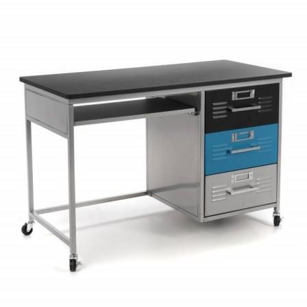 Bureau enfant ado adultes bureau et mobilier pour for Bureau en metal style industriel