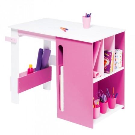 Bureau enfant table enfant table de jeu enfant espace de travail et devoir enfant table d for Bureau chambre fille