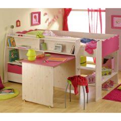 Meuble pour chambre de fille lit combin pour chambre de fille conseils e - Lit avec bureau pour fille ...