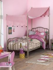 lit fille avec ciel de lit pour décorer - Lit original et tendance ...
