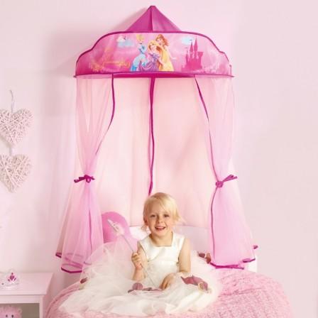 Ciel de lit rose pour d corer une chambre de fille en - Lit de princesse pas cher ...