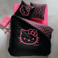 Housse de couette douceur pour junior ou chambre d 39 ado - Housse de couette hello kitty 1 personne ...