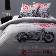 Linge de lit pour adolescent ou junior la housse de for Housse de couette moto 200x200