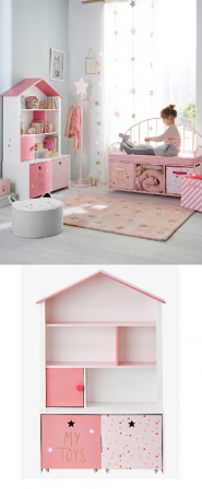 des id es de d co originales pour les chambres de filles une t te de lit maison de poup e. Black Bedroom Furniture Sets. Home Design Ideas