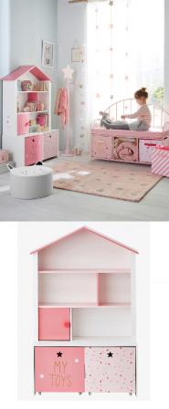 des id es de d co originales pour les chambres de filles une t te de lit maison de poup e. Black Bedroom Furniture Sets. Home Design Ideas