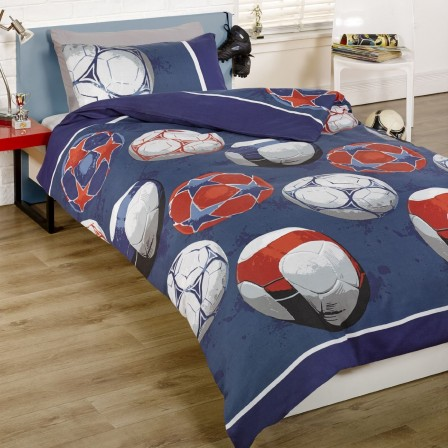 Lit enfant forme ballon de football un lit original pour for Housse de couette pas cher 1 personne