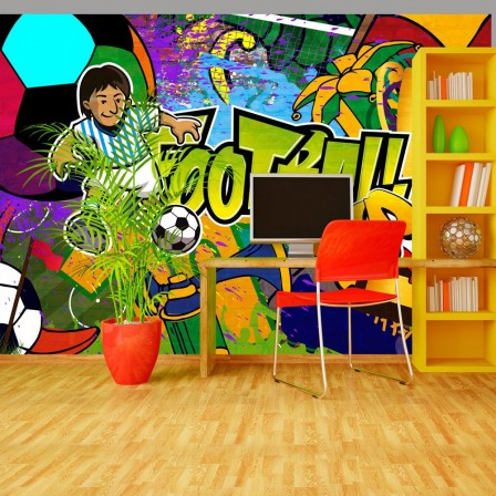 Deco Murale Foot Decoration Chambre Enfant Sur Le Th Me Du Football Deco Chambre Gar On Foot