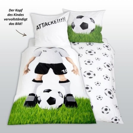 housse de couette football 1 personne. Black Bedroom Furniture Sets. Home Design Ideas