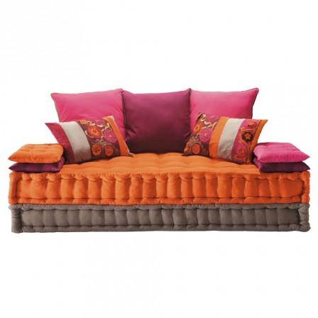 Matelas futon coussin de sol capitonn detente et for Canape matelas tapissier