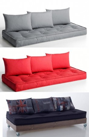 matelas futon coussin de sol capitonn detente et couchage pour chambre enfant ou ado grand. Black Bedroom Furniture Sets. Home Design Ideas