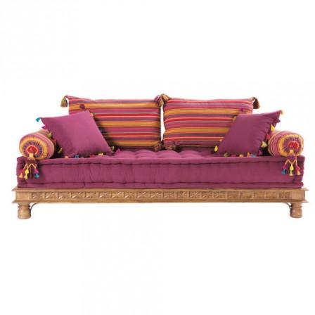 Coussin pouf fauteuil canape pour enfant meuble for Banquette indienne maison du monde